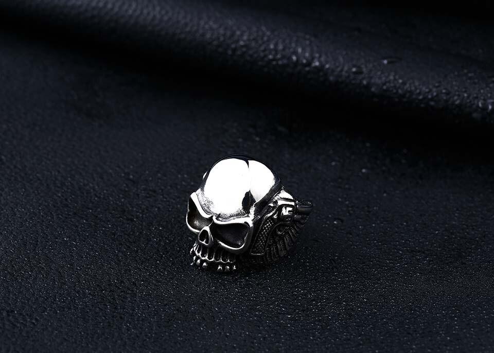 แหวนโคตรเท่ห์ Code 031 แหวนSkull wing สแตนเลส 9