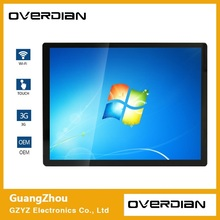 "17"" Win7 System Industrial Computer Household Embedded Computer Capacitive Touch Plane computer 4:3 Screen Ten Touch 1280*1024(China)"