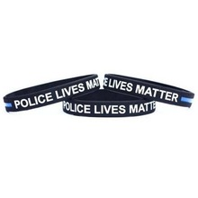 Fashion Style Police Lives Matter Wristbands Black Thin Blue Line Silicone Rubber Bracelets Wholesale