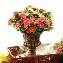 Free shipping white pink red DIY flower arrangements silk flowers for home decoration artificial daisy flowers(China)