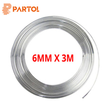 Partol 6mm Tira Moldagem Prata Cromo Universal Drecoration Adesivo Interruptor Ar Condicionado Borda Bumper Grille Guarnição Carro Styling(China)