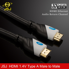 JSJ 6ft High Speed HDMI Cable 1.4 Version 4Kx2K 3D Type A Male to Male 24k gold plated for HDTV XBOX computer ps3 projector(China)