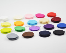 DIY 4CM Round Felt fabric pads accessory patches circle felt pads, fabric flower accessories 200PCS