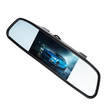 "Universal Car Rear View Camera  2-in-1 Set 170 Degree Angle Reverse Camera with 4.3"" TFT LCD Mirror Monitor Display"