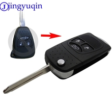 jingyuqin Flip Remote Car Key Shell Styling Cover Case For Chrysler Dodge Jeep Avenger Nitro 3 Button Fob Folding Key Case