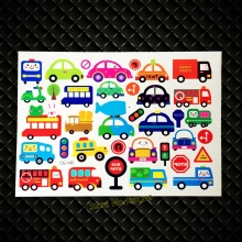 DIY South Korea Temporary Tattoo Stickers Cute Children School Tatoo GCG-145 Kids Gifts Toys Bus Car Waterproof Tattoo Body Art