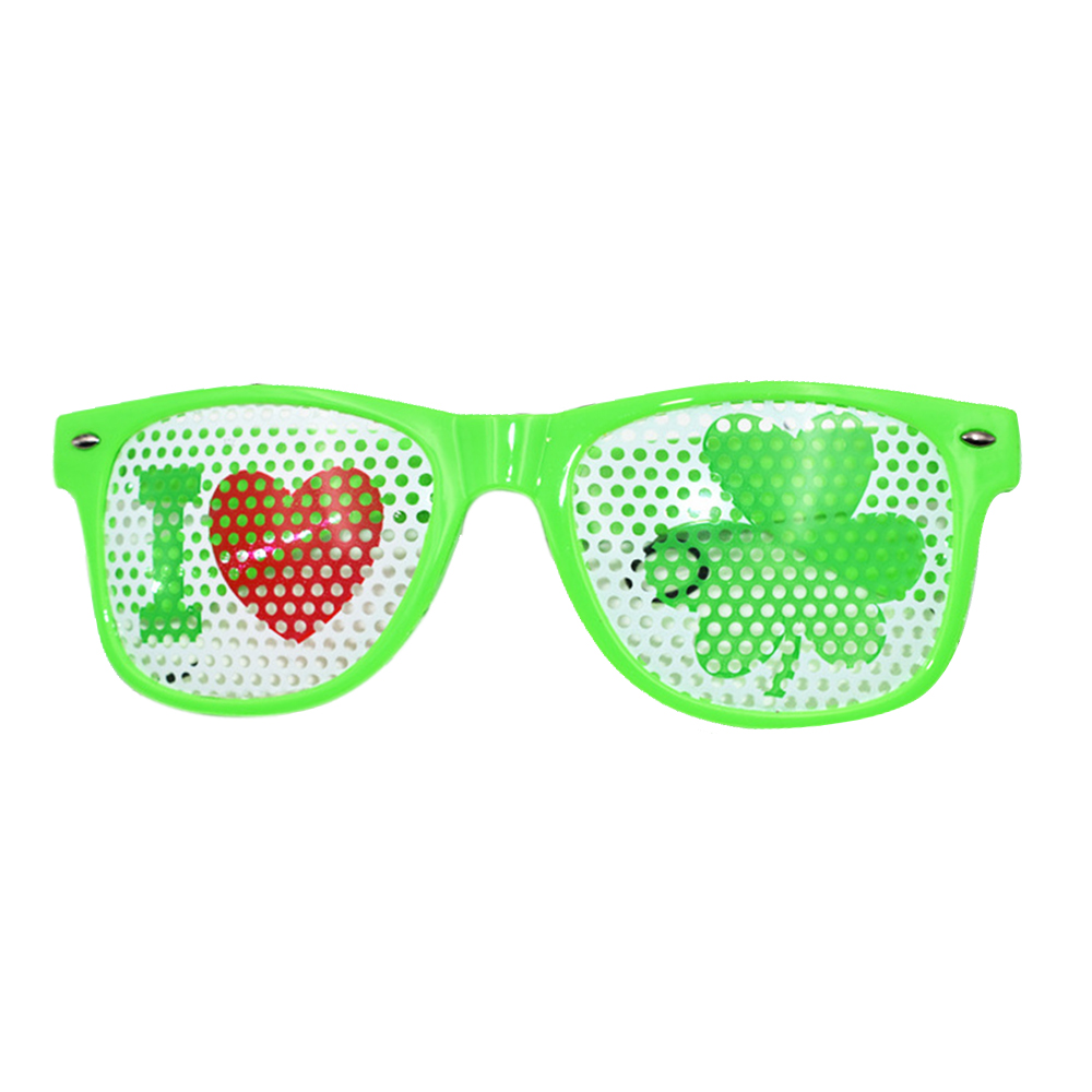 Men's Eyewear Frames Men's Glasses Reasonable Funny Shamrock Design Sunglasses Creative Holiday Cosplay Costume Glasses Accessory