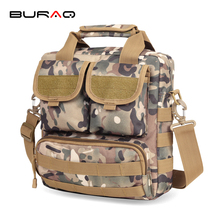 BURAQ Outdoor Sport Laptop Mochila Men Messenger Bag Men's Travel Tactical Bag Multifunction Tactical Canvas Bag(China)