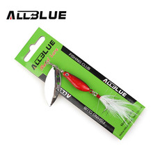 ALLBLUE Long Casting Minnow Super Spinner 12g Spinners Fishing Lure Longcast Artificial Bait 4 Colors Available Peche