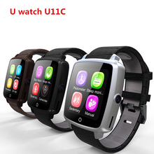 Leather Strap Bluetooth SmartWatch U11C Smart Watch Phone Support SIM Card,Video Play for   IPhone/Samsung/Xiaomi Pk U8 GT08 DZ0