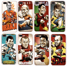 6Plus Football Case for iPhone 7 Rubber Shockproof TPU Phone Case for iPhone 7 Plus 7Plus Sports Man Back Cover Phone Cases