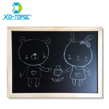 XINDI Wood Frame Magnetic Blackboard Dry Erase ChalkBoard Restaurant Office Supplier New 30*40cm Home Decorative Black Board(China)