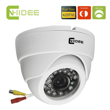 CNHIDEE CCD 420TVL Security CCTV Camera IR Dome Night Vision indoor 20PCS LED IR  Distance 15 M Camaras De Seguridad -