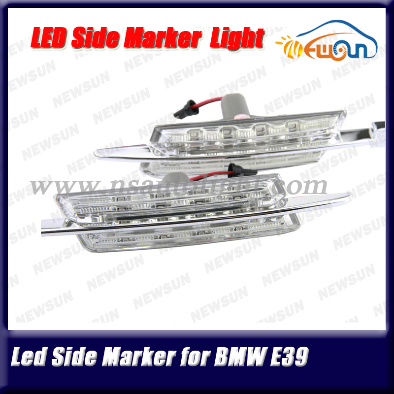 New Products Modern Led Side Lamp Auto Car Exterior Lights E39 LED Side Lights Marker Turn Signal Light Yellow 2pcs 1 pair<br>