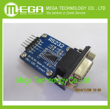 Free shipping RS232 Serial Port To TTL Converter Module max3232 5V/3.3V with Jump Cables Wholesale Price