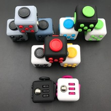 100pcs/lot DHL free Mini Fidget Cube Vinyl Desk Finger Toy Squeeze Fun Stress Reliever 11 Colour Click Glide Flip Spiner in box
