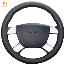 MEWANT Black Artificial Leather Car Steering Wheel Cover for Ford Kuga 2008-2011 Ford Focus 2 2005-2011(China)