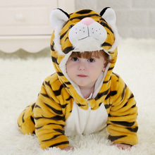Toddler Boys Long Sleeves Clothes Fall Winter Fashion Soft and Thick Flannel Animal Tiger Halloween Baby Costumes Boys
