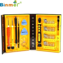 Top Quality Professional 38 in 1 Screwdriver Set Tools Repair Kit For Cell Phone Tablet PC Watch MP3 O26(China)