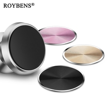Roybens Universal Magnetic Disk For Car Holder Stainless Iron Sheets Metal Round Plate For Magnet Air Vent Mount Holder Car Hold(China)