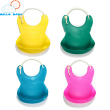 quality comfortable soft Baby Silicone Bib Waterproof Disposable Kids Saliva Towel Boys And Girls Children Feeding Accessories