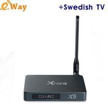 X5 RTD1295 Android iptv box add IPTV Account Sweden French Italy Albanian UK USA Arabic sports Europe TV code m3u X5 ip tv box(China)