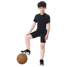 2017 Youth Kids Boys Trousers Compression Base Layer Skins Shorts Quick-drying Mid Thigh Pants(China)
