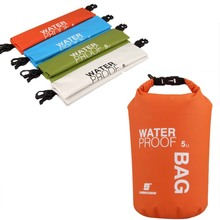 5L Portable Ultralight Outdoor Camping Travel Rafting Waterproof Dry Bag Swimming Travel Bags Kit Orange/White/Green/Blue