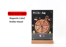 A4 Restaurant Wooden Price Tag frame Display Stand Tabel Sign menu list advertising poster holder frame(China)