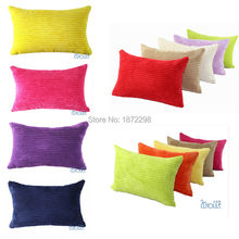 Free Shipping 35X50cm 30X45cm 40X60cm 65X65cm 2.5Wales Nylon/ Polyester Corduroy Striped Cushion Covers HT-NPCDC-03-L(China)
