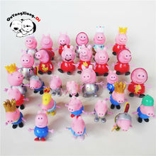 10pcs/lot George Mummy Daddy plastic pig toys PVC Action Figures Family Member pig Toy Juguetes Baby Kid Birthday Gift