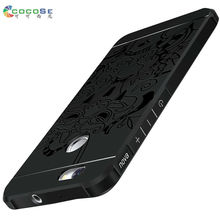 COCOSE for Huawei Nova case silicon matte cover luxury 3d carved soft tpu anti-knock mobile phone shell for huawei nova cases(China)
