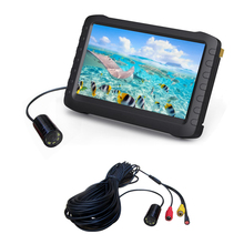 DHL Free shipping underwater fish finder camera with 100m long cable 5 inch monitor system(loop recording, storage, 12V)(China)