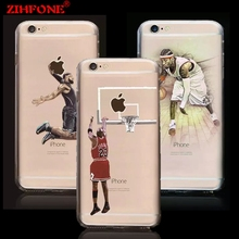 FOR IPHONE 7 NBA Hard PC phone cases NBA Star for iphone 6 case James Harden Michael Jordan Lebron coque case FOR iphone 6 6Plus