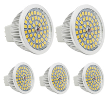 5x 100% Quality Assurance MR16 10W SMD 2835 48 LED Light Bulb White Warm White AC 12V LED Spot Aluminum Spot lamp spotlight(China)