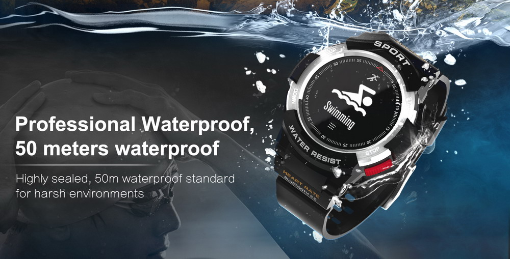 DTNO.1 Smart Watches F6 50m Waterproof Smartwatches Sports Nordic NRF51822 Smart Watch Sleep Monitor Remote Camera IOS Android (2)