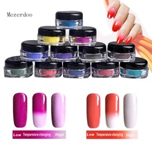 Mirror Powder Nail Glitter Powder Chrome Bling Chameleon Color Change Powder Pigment for Gel Nail Polish Decoration 12Color