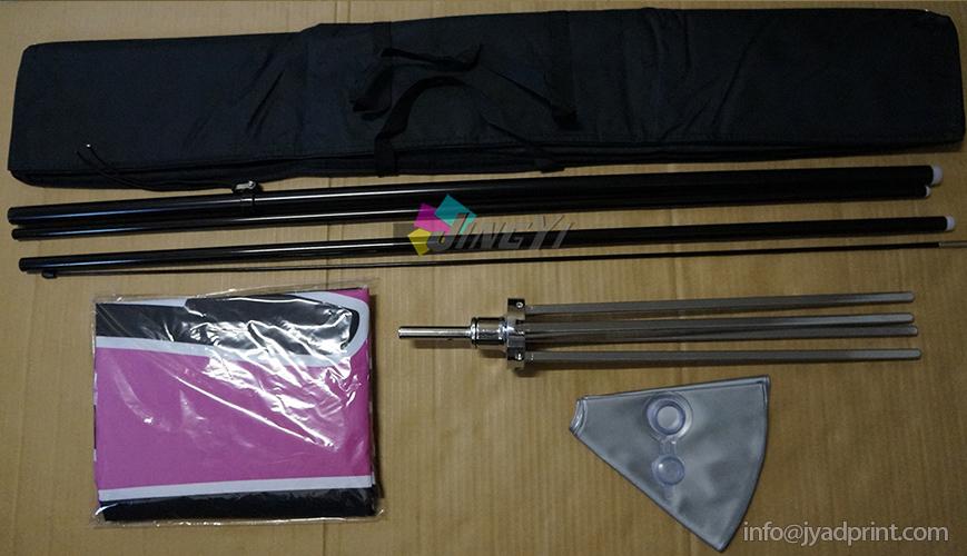 Flags + Pole + Heavy duty Cross Base + Water Bag