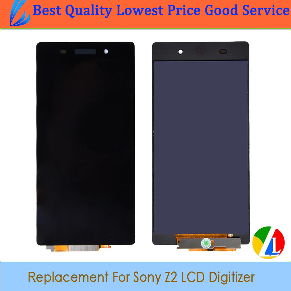 LL TRADER Black LCD Display Replacement For Sony Xperia Z2 D6502 D6503 D6543 L50W Touch Screen Digitizer with Tools Free Ship<br><br>Aliexpress