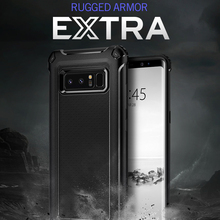 Original Rugged Armor Extra Case for Galaxy Note 8 Heave Duty Flexible Carbon Fiber Design Case for Samsung Galaxy Note 8(China)