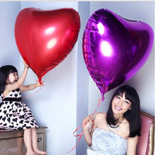 32Inch Large Love Heart Balloons Aluminum Foil Helium Air Ball Happy Birthday Valentine Wedding Decoration Globos Party Supplies