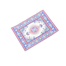 TOYZHIJIA 1:12 Dollhouse Miniature Embroidered Carpet Woven Floral Rug Floor Coverings Gifts Miniatures Garden Decoration Crafts(China)