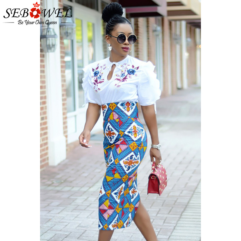 Bluish-African-Print-High-Waist-Bodycon-Pencil-Skirt-LC65104-5-5