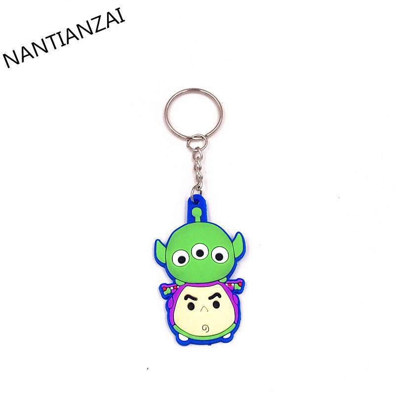 1PCS-Cute-Cartoon-TSUM-TSUM-Mickey-Minnie-Donald-Cartoon-Doll-Keychain-Kids-Gift-Key-ring-Backpack (3)