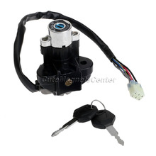 Aluminum Motorcycle Ignition Switch Lock with Keys for Suzuki GSXR 600 750 GSX-R600 GSX-R750 Pitbike Scooter Motorbike Parts Cdi(China)