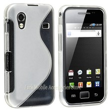 New High Quality Multi Color S-line Flexible Soft Gel Tpu Silicone Skin Slim Back Case Cover For Samsung Galaxy Ace S5830  5830
