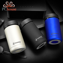 PChouse High Quality Men Vacuum Flasks 304 Stainless Steel Thermos Mug 2017 New 400ml Travel Mug Father's Day Gifts(China)