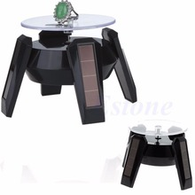 Solar Power 360 Degree Jewelry Rotating Display Stand Turn Table Plate  T52