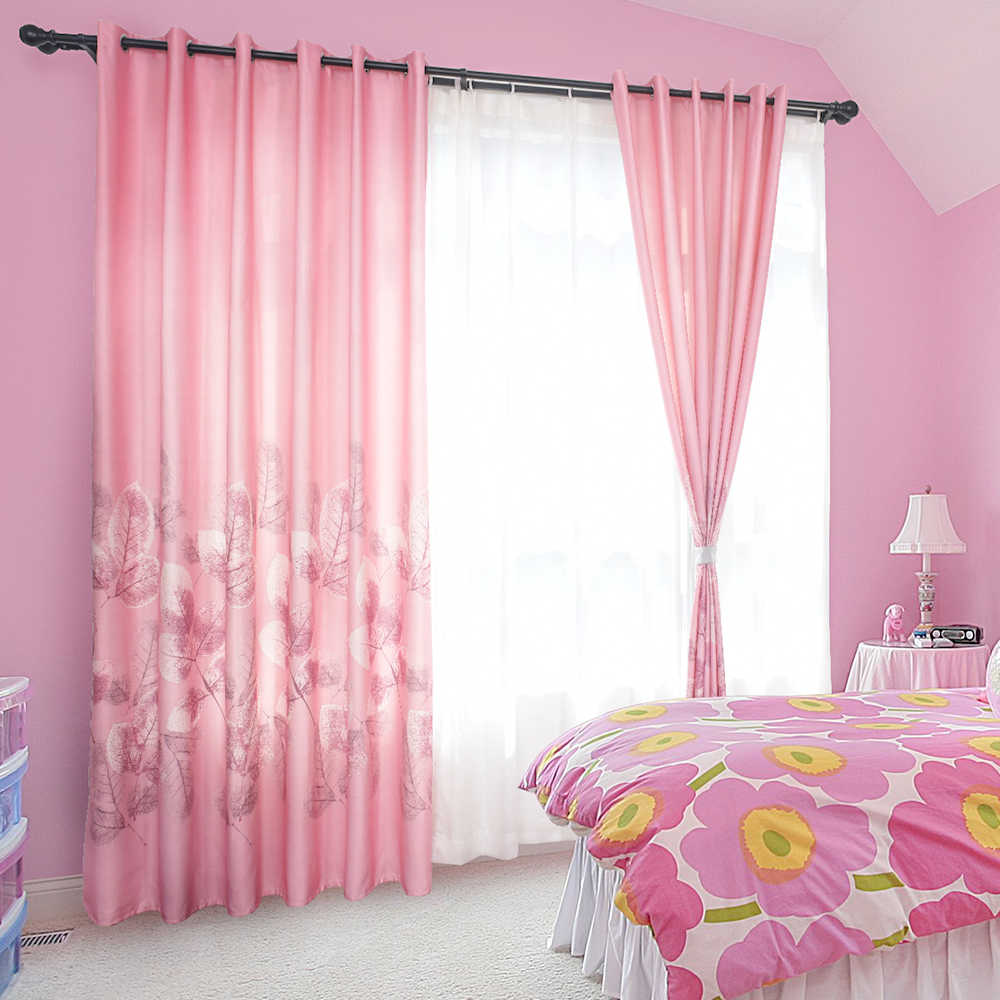 Pink Kids Curtains For Living Room Blackout Curtains For Children Bedroom Girls Room Curtain Window Decoration Curtain