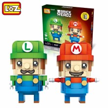LOZ Super Mario Bros Luigi Mini DIY Assembled Building Blocks Toys Game Character Model Children Gifts 1706 - Guangzhou DNC Trade Co.,Ltd. store